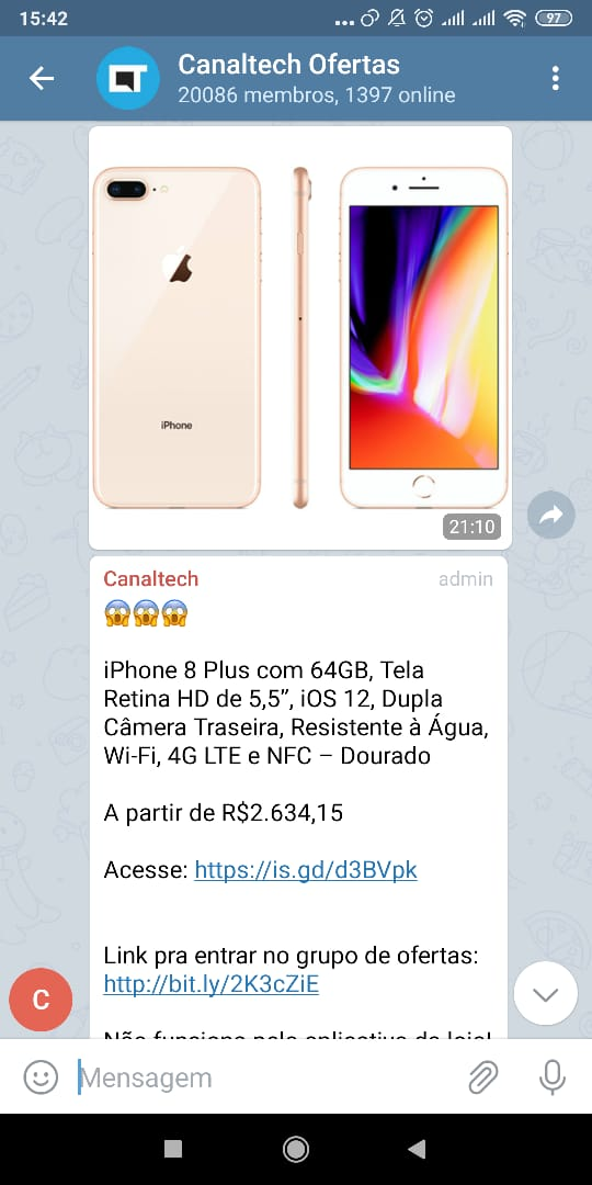 iPhone 8 Plus com 64GB