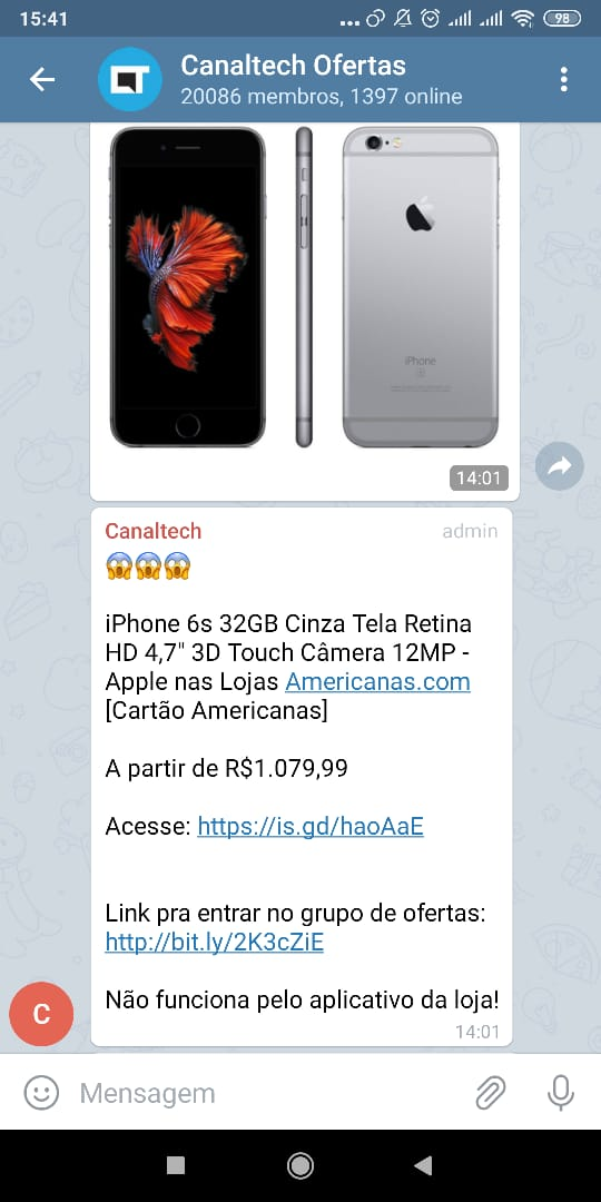 iPhone 6S 32GB Cinza