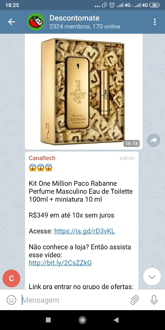 Kit One Milion Paco Rabanne