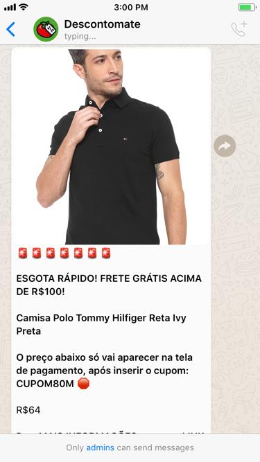 Camisa Polo Tommy Hilfiger Reta Ivy Preta