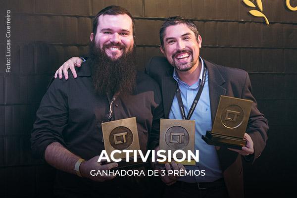 Entrega dos prêmios para a Activision