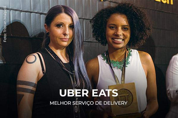 Entrega do prêmio para a Uber Eats